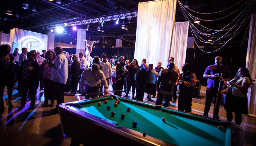 Portfolio special events moxi events for Pool expo show